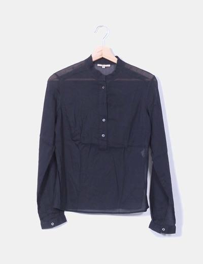 Camisa negra semi-transparente Sfera