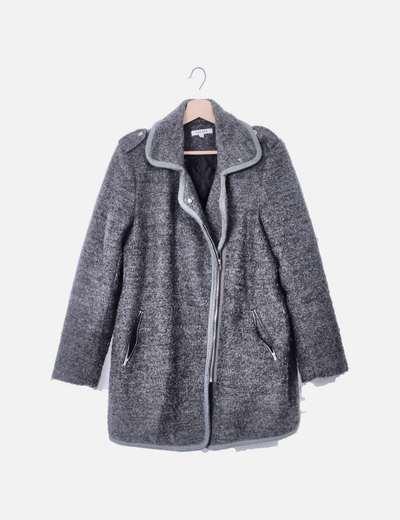 Abrigo gris rizo