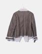 Veste taupe combinée en fourrure de mouton 1060 Clothes