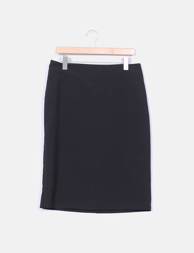 Falda midi negro Easy Wear