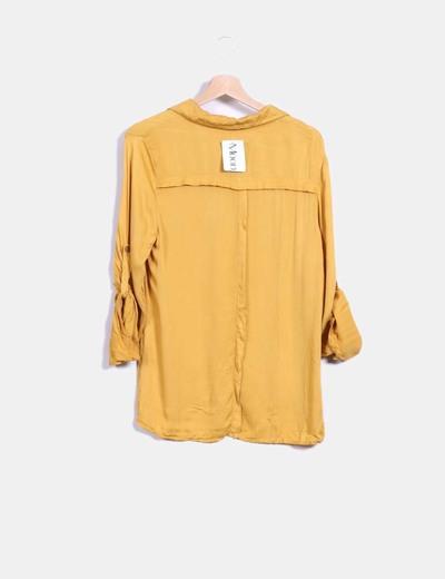 Blusa mostaza manga larga