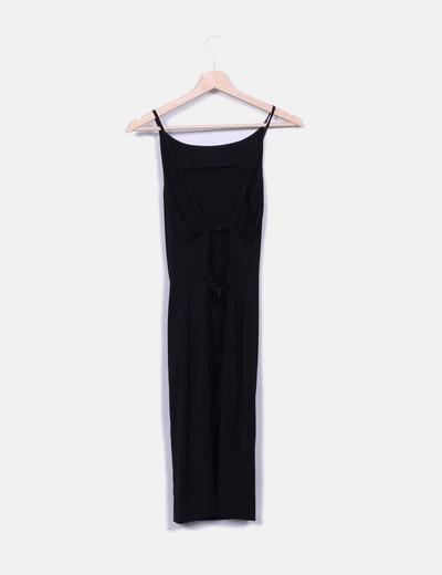 154ad66062d3 Vestido negro espalda abierta