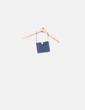 Clutch drapeado azul petróleo Tintoretto