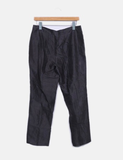 Pantalon seda gris marengo