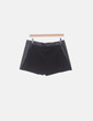 Mini falda pantalón combinada negra Benetton