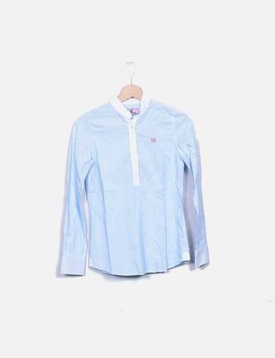 Camisa rayas azules Montepicaza