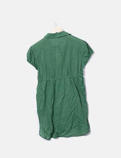 99a44407772 Bershka Camisa verde manga corta (descuento 89%) - Micolet