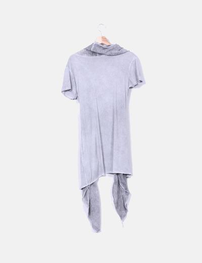 Cardigan gris efecto degradado manga corta