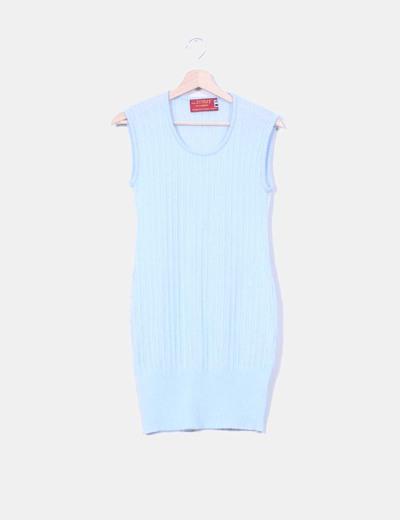 Vestido de punto azul pastel NoName