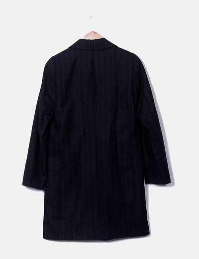 Cappotto Nero 72 A Righe sconto Zara Micolet Maschile TPdqtTw
