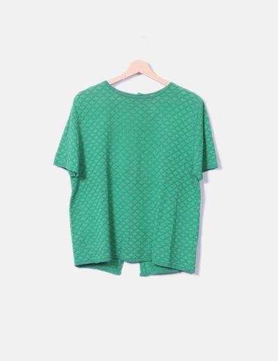 Camiseta texturizado verde