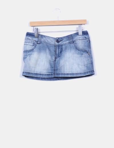 Mini falda vaquera Pull&Bear