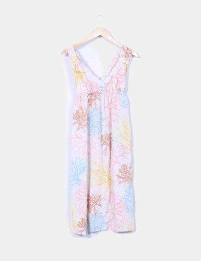 Robe imprimée de fleurs imprimé de fleur Oysho