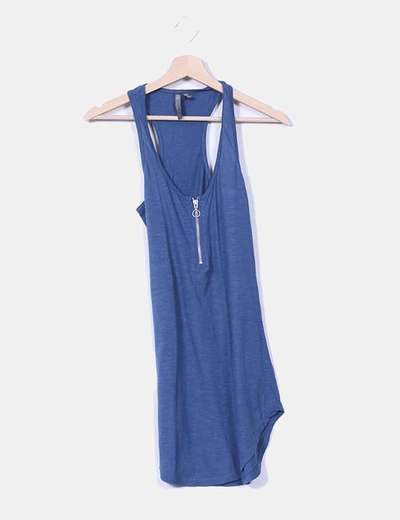 Top espalda nadadora azul petróleo Bershka