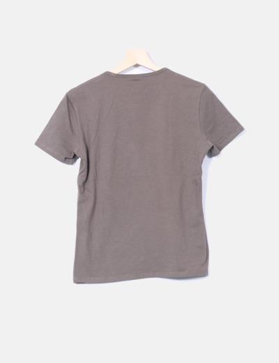 Camiseta verde print
