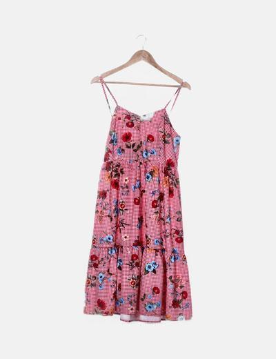Cuadros Cuadros Vichy Vestido Vichy Floral Vestido rCsQdth