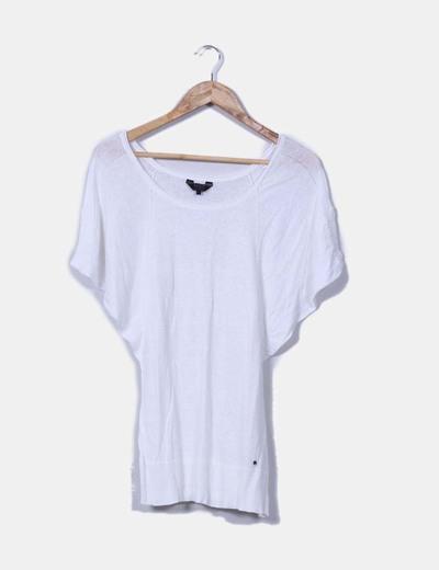 Jersey blanco con manga mariposa Guess