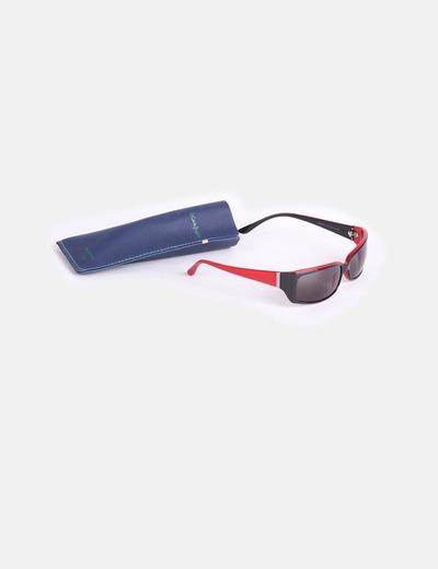 Gafas de sol montura de pasta negra y roja