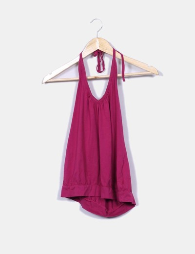 Camiseta halter rosa S.Oliver