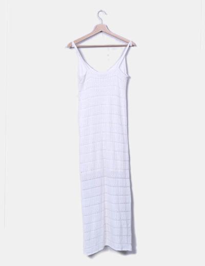 Vestido de punto en blanco