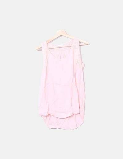 Blusa de tirantes rosa