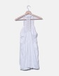 Vestido blanco detalle crochet Stradivarius