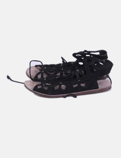 Sandalias lace up negras
