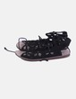 Sandalias lace up negras Zara