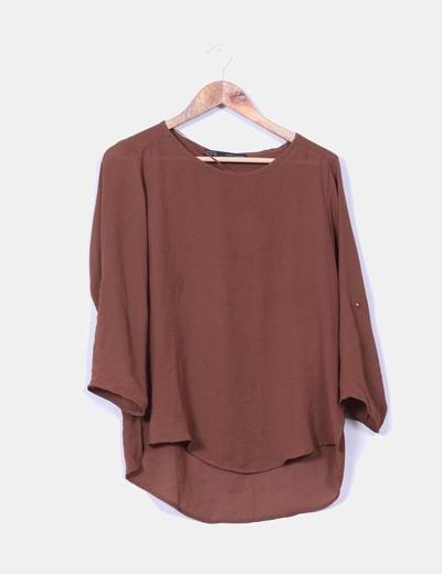 Blusa marrón Zara