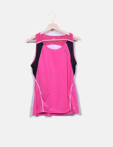 8ae6443b10 Camisa de esporte fúcsia rosa Asics