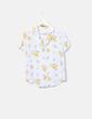 Camisa azul celeste estampado floral Kiabi