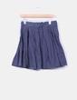 Falda azul marina abotonada Pull&Bear