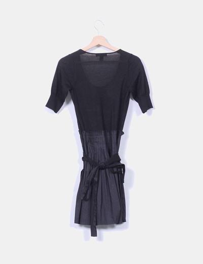 Vestido midi combinado