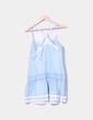 Vestido tirantes denim azul claro Zara