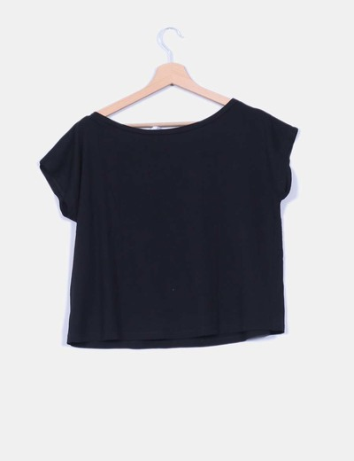 Camisa negra basica oversize