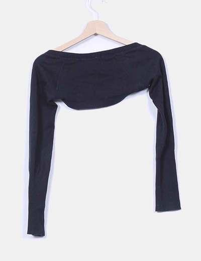 Chaqueta torera tricot negra