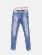 Jeans denim azul efecto desgastado Guess