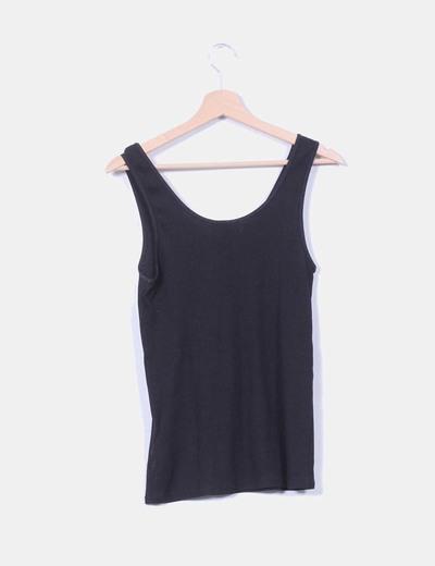 Camiseta basica negra de canale