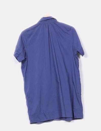 Blusa azul marino manga corta