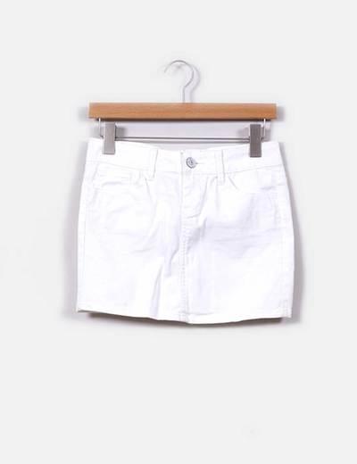 987d9b930d Stradivarius Mini falda vaquera blanca (descuento 67%) - Micolet