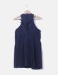 Vestido azul marino detalle flores Hoss Intropia