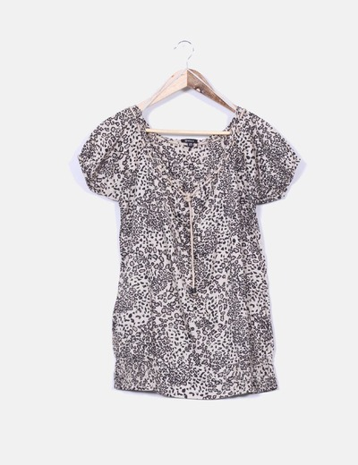 Blusa beige estampada Suiteblanco
