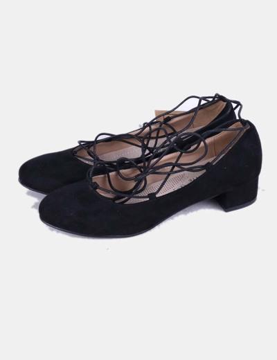f20efddd216b19 La Bottine Souriante Ballerine noir heeled lacer (réduction 48%) - Micolet