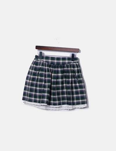 Falda cuadros verde Girls collection
