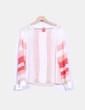 Blusa semitransparente blanca y coral Suiteblanco