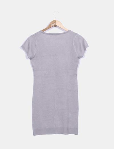 Vestido pichi tricot gris
