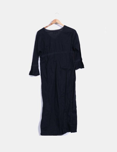 Vestido largo negro zara