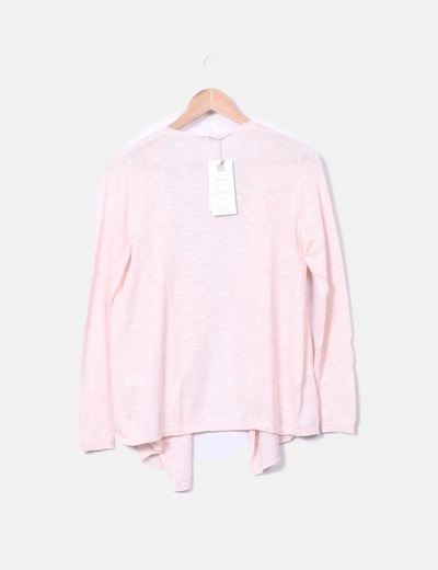 Cardigan rosa palo
