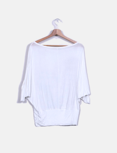 Camiseta blanca viscosa print