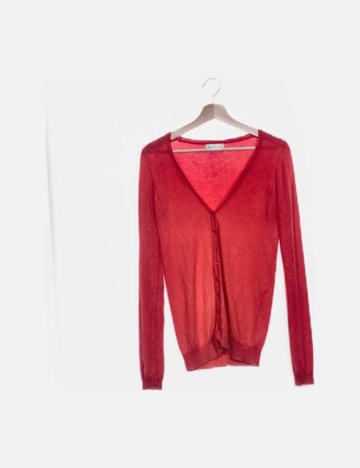 Chaqueta tricot roja